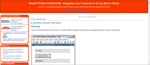 Pluggable Java Components & Java Beans' library - Oracle Mobile